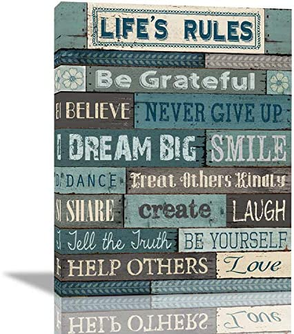 Office Inspirational Rules Theme Wall Art Decoration Inspirational Canvas Print Making Framed product image