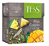 Green Tea TESS Pina Colada Mango and Pineapple Beverages Grocery Gourmet Food 20 pyramids of Tea Bags