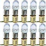 ToToT 10pcs E10 Screw Base Light Bulb 12V Cold White Lamps Bulbs+10pcs E10 Lamp Base Holder