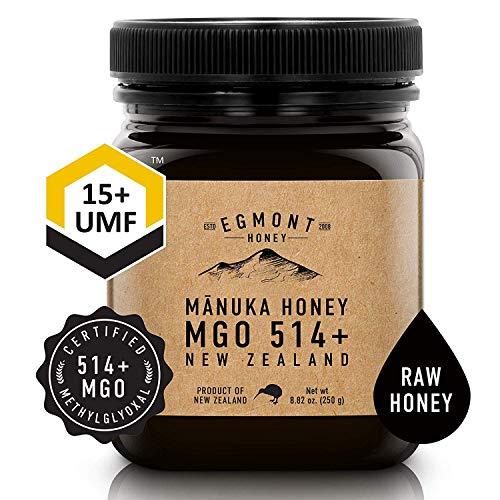 EGMONT HONEY Manuka Honey MGO 514+ UMF 15+ – 100% Natural New Zealand 8.8oz (250g)