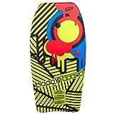Wham-O Boogie Board 37 Inch Bodyboard   Fiberclad Cover with Phuzion Core   Premium Wrist Leash Included   Slick Body & Crescent Tail   Surfboard for Ocean, Sea, River, Pool (37', Yellow)