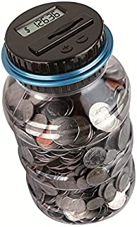 Coin Piggy Bank Saving Jar, Winnsty Digital Coin Counter with LCD Display Large Capacity Money Saving Box for All US Coins