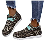Aniywn Flat Shoes Women Canvas Shoes Slip On Sneakers Lace Up Loafer Shoes Casual Walking Sneaker Shoes Camouflage