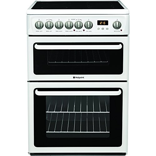 Hotpoint HAE60PS Freestanding Cooker Double Oven Electric White