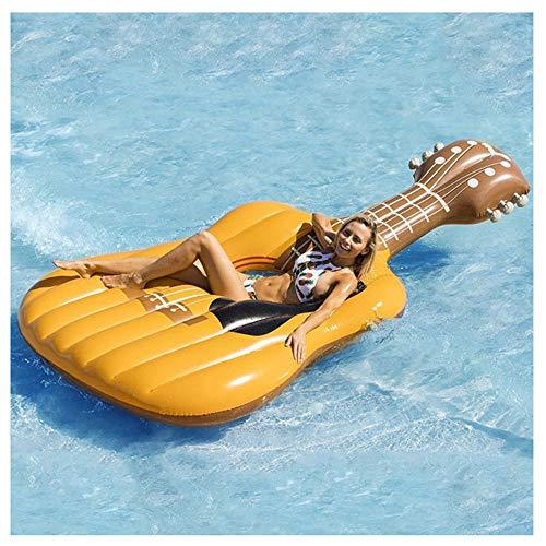 NHMPP Colchonetas Piscina Flotadores Gigantes Flotador Colchoneta Hinchable Hinchables para Gigante Playa, ViolíN Anillo De NatacióN Guitarra Montaje Instrumento