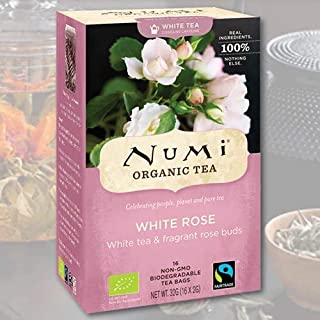 Numi Tea - White Rose - Velvet Garden White Tea, 18 bag