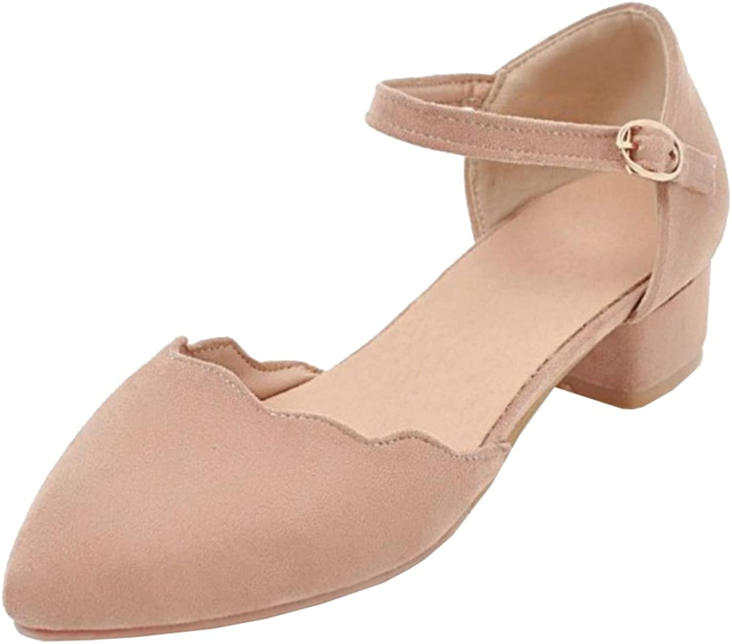 TAOFFEN Women Spring Summer shoes Closed Toe