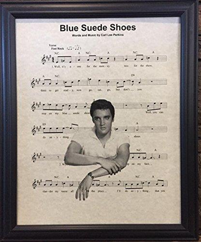 Ready Prints Kunstdruck, Motiv: Elvis Presley, Blaue Wildleder-Schuhe, Kunstdruck, Bildposter für Zuhause, Büro, Schlafzimmer, Kinderzimmer, Küche, Wanddekoration, ungerahmt