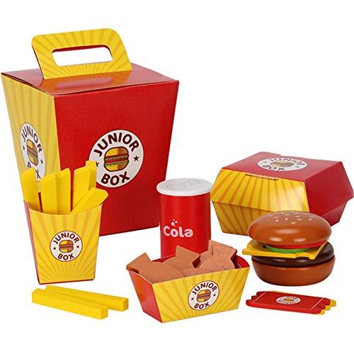 Raspbery Juego de Comida, Juguete de Madera, Juego de Comida para niños Juego de Hamburguesa y sándwich de Madera para niños Juego de Juguete de Comida de Cocina de Alimentos