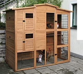 【ドイツKerbl】ドイツKerbl 大型木製ウッドバードケージ ポールトリーファーミングバードハウス