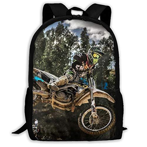 Unisex School Bag Outdoor Casual Shoulders Backpack Motocross Sport Motorcycle Vehicle Travel Daypacks for Women Men Kids