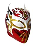 SIN CARA Lycra Youth Lucha Libre Wrestling Mask - Kids Costume Wear - RED