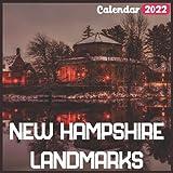 New Hampshire Landmarks Calendar 2022: Official New Hampshire Calendar 2022, 18 Month Photo of New Hampshire Travel calendar 2022, Mini Calendar