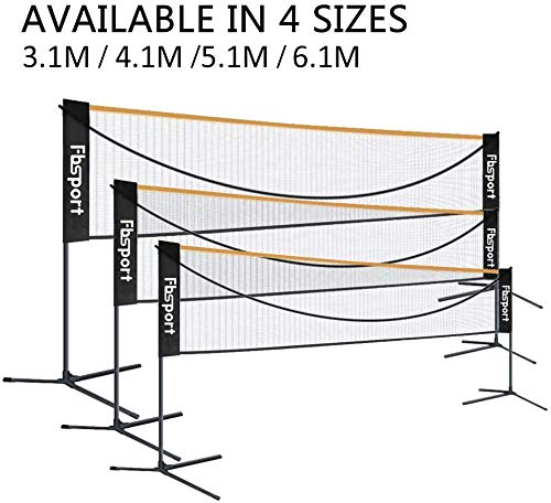 FBSPORT Filet de Badminton, Pliable, Facile à Monter, Facile à Transporter, Hauteur réglable, Portable...