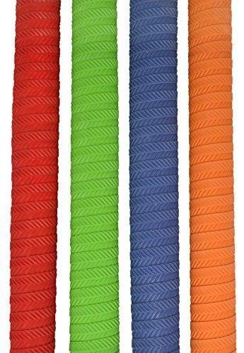 Make or Break Professional Cricket Bat Rubber Grips Spiral Non Slip Replacement Handle Grip Design S05 Set of 4