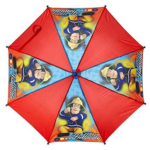 Feuerwehrmann Sam Stockschirm Sam im Einsatz | Kinder Regenschirm