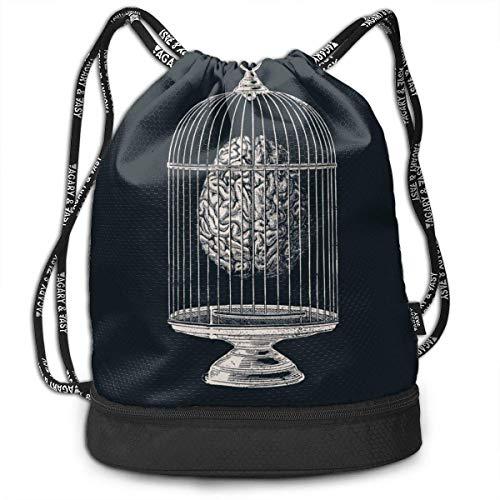 Leila Marcus - Mochila con cordón, Bolsa de Cuerda para Cerebro en...