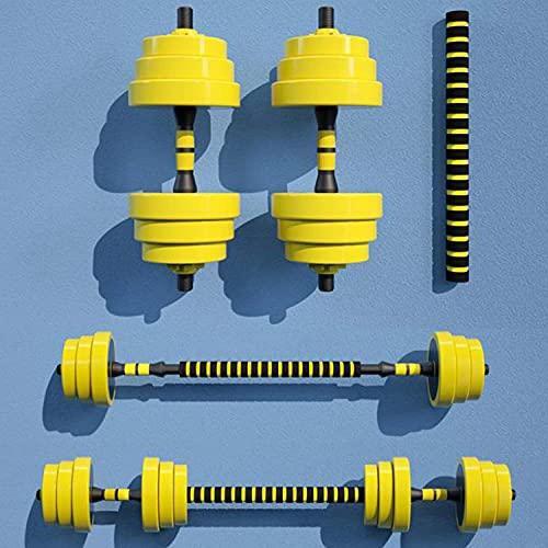 Bueuwe Fitness-Kurzhantel-Set, Verstellbares Kurzhantel-Langhantel-Paar Gesamtgewicht 44LBS Mit Rutschfestem Griff Und Anschluss Für Das Training Abnehmen Einfache Montage