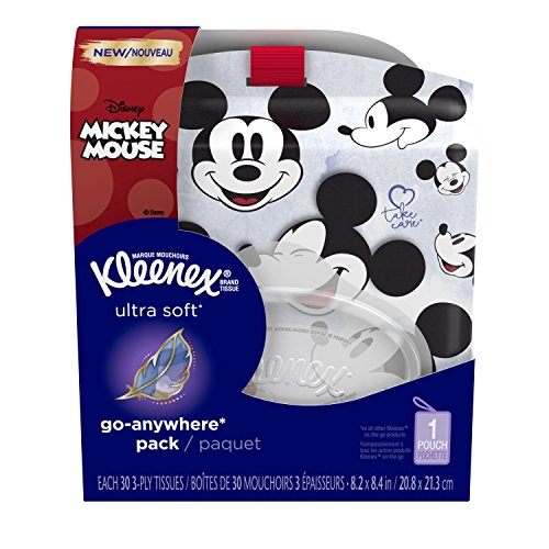 Kleenex Ultra Soft Go-Anywhere Facial Tissues, 1 Soft, Flip-Top Pack with Strap, 30 Tissues