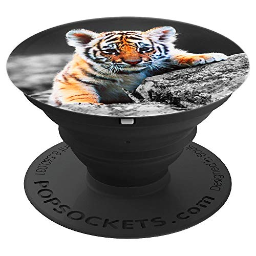 Cute Baby Tiger Pop Socket Small Animal PopSockets Grip and Stand for Phones and Tablets