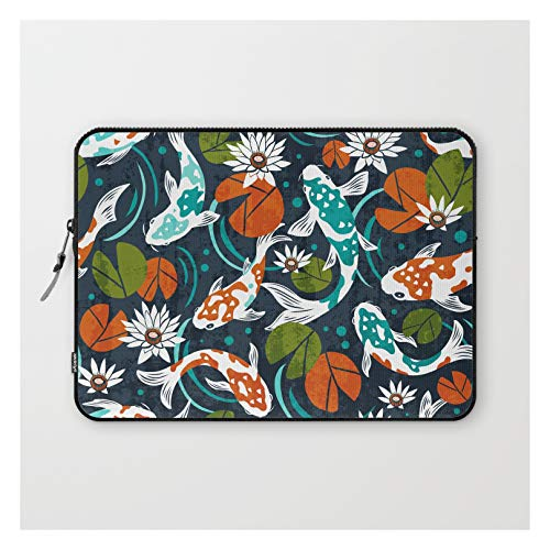 Koi Pond - Orange by Heather Dutton on Laptop Sleeve - Laptop Sleeve - 13'