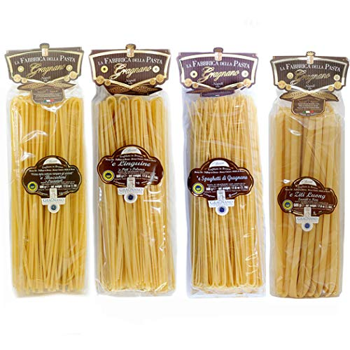 Gragnano GGA lange Nudeln set - Bucatini, Linguine, Spaghetti, Ziti 500gr x 4