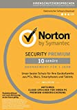 Norton Security Premium 2018 | 10 Geräte | 1 Jahr | PC/Mac/iOS/Android | Download