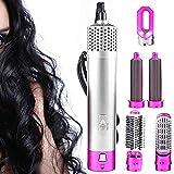 Cepillo secador de pelo 5 en 1, secador de pelo eléctrico iónico desmontable, secador de pelo, rizador de pelo, herramientas de peinado para todos los estilos