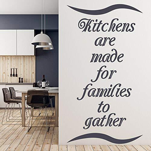 Etiqueta de la pared cocina es fiesta en casa etiqueta de la ventana de vinilo decoración del hogar sala de estar cocina arte palabra mural