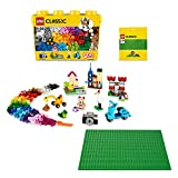 LEGO Classic Scatola Mattoncini Creativi Grande più Base Verde, Box di Immagazzinamento, Costruzioni per Bambini di 4+ Anni