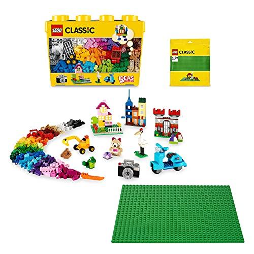 lego classic base LEGO Classic Scatola Mattoncini Creativi Grande più Base Verde