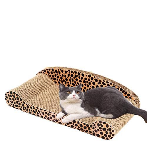 IANSISI Lujo gato juguete gato rascador pad gatito almohadilla de papel corrugado gato uñas raspador pad colchón regalo orgánico gato delgado
