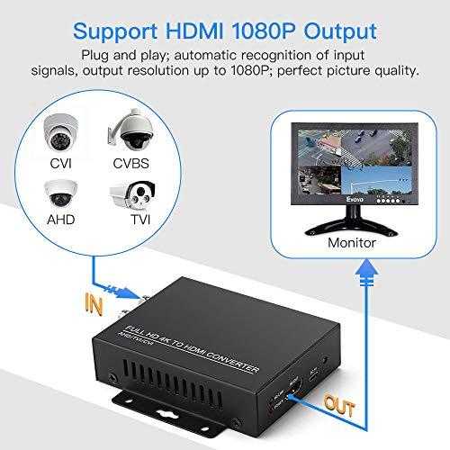 Seesii Convertitore Adattatore TVI/CVI/AHD a HDMI Video HD 4K 720P/1080P/3MP/4MP/5MP/8MP BNC per Monitor HDTV DVRs