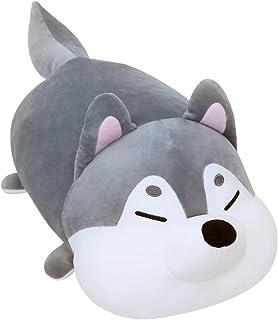 MOCHI TOWN Soft Cute Plush Stuffed Dog Cat Doll Cushion Animal Toy Pillow (Husky)