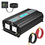 Pure Sine Wave Power Inverter 1500W DC 12V to AC 230V 240V with 4.5m Remote Controller LCD Display Dual 2.4A USB Port 24-month Warranty