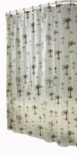 Palm tree pattern shower curtain