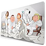 Alfombrilla de ratón para teclado con diseño de dibujos animados de familia, grande, 75 x 40 x 0,3 cm de grosor, antideslizante, base de goma, para videojuegos, Macbook, PC, ordenador portátil