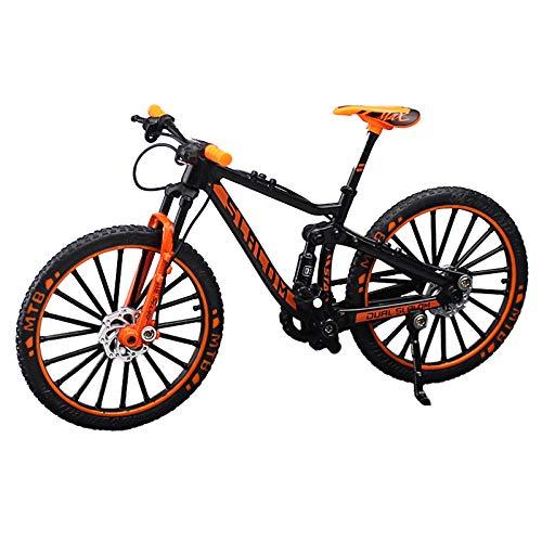 シンプルチョコ 自転車 おもちゃ 玩具 ハンドル 3色 MTB マウンテンバイク 模型 1/10 (オレンジ)