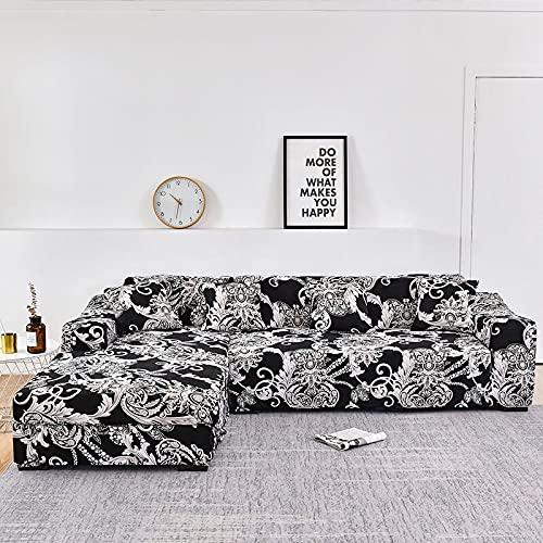 WXQY La Forma de L Necesita Pedir una Funda de sofá de 2 Piezas, Funda de sillón de Toalla de sofá elástica, para sofá de Esquina para Proteger los Muebles A11 de 2 plazas