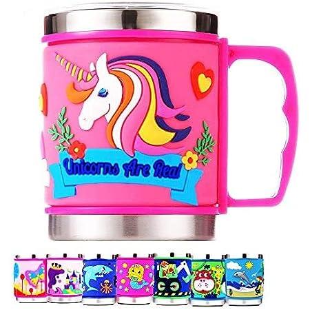 Prezzie Villa Stainless Steel Mug - Pack Of 1, Multicolour, 350Ml