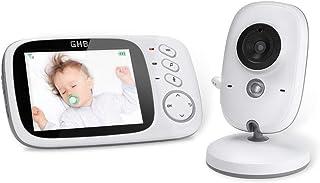 Ghb Babyfoon, 3,2 Inch Smart Babymonitor, Met Tft Lcd-Scherm, Nachtzichtcamera En Temperatuurbewaking (Babyunit Zonder Bat...