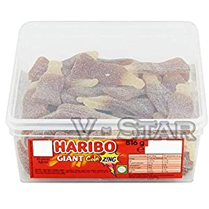 1 x full haribo sweets tub for kids and adults (giant cola zing bottles) 1 X Full HARIBO Sweets TUB for Kids and Adults (Giant COLA ZING Bottles) 513yWWs97AL