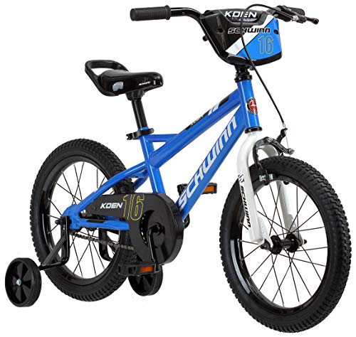 Schwinn Koen Boy's Bike, Featuring SmartStart Frame to Fit Your Child's Proportions, 16inches Wheels, Blue