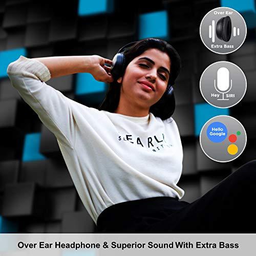 AGARO Opus On-Ear Bluetooth Headphones with Mic (Black)