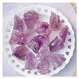 Cristal natural rugoso 3 unids Natural Rose Cuarzo Púrpura Mini Rock Mini Minal Espécimen La curación se puede utilizar para la decoración del hogar de piedra de acuario Artesanía ( Size : 2 3cm )