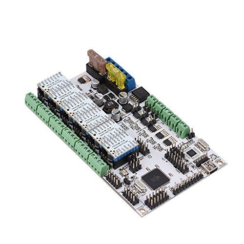 ASHATA Hauptplatine für Rumba Plus, 3D-Drucker Smart Main Control Board + TMC2130 V1.0 + 6 Kühlkörper-Kit, Mega2560-basierter AVR-Prozessor für CNC, 3D-Drucker, Graviermaschine