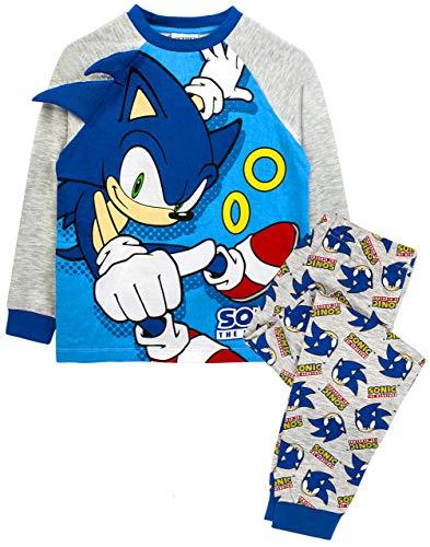 Sonic The Hedgehog 3D Spikes Boy's Blue Grey Character Pyjamas