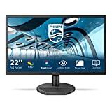Philips - MMD Monitors Italia Gaming Monitor 221S8LDAB, 22' LED, Full HD, 1 ms, Casse Audio Integrate, HDMI, DVI, VGA, Low Blue Light Protezione Occhi, Flicker Free, VESA, Nero