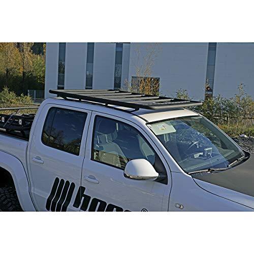horntools Dachträger NAVIS Nissan Navara flach Alu schwarz optional mit Reling by Offroad 4x4 Dachzelt