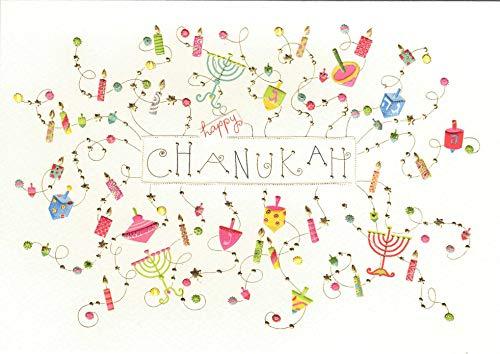 Chanukka-kaart vrolijk bont